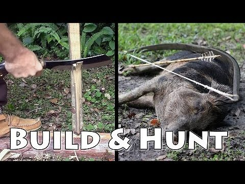 Bushcraft Bow Build and Hunting for Hogs