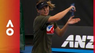 Maria Sharapova returns to Melbourne Park | Australian Open 2018