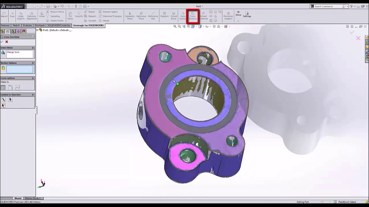 Geomagic for SOLIDWORKS How to Reverse Engineer a Flange