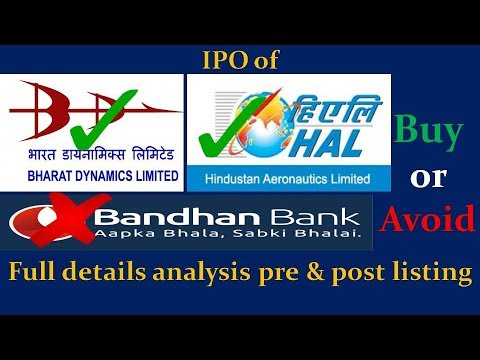 IPO : Bharat Dynamics Ltd, Hindustan Aeronautics Ltd and Bandhan Bank: BUY or Avoid.