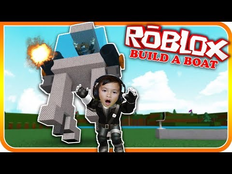 Giant Robot Chasing Kids In Build A Boat for Treasure Roblox - TigerBox HD