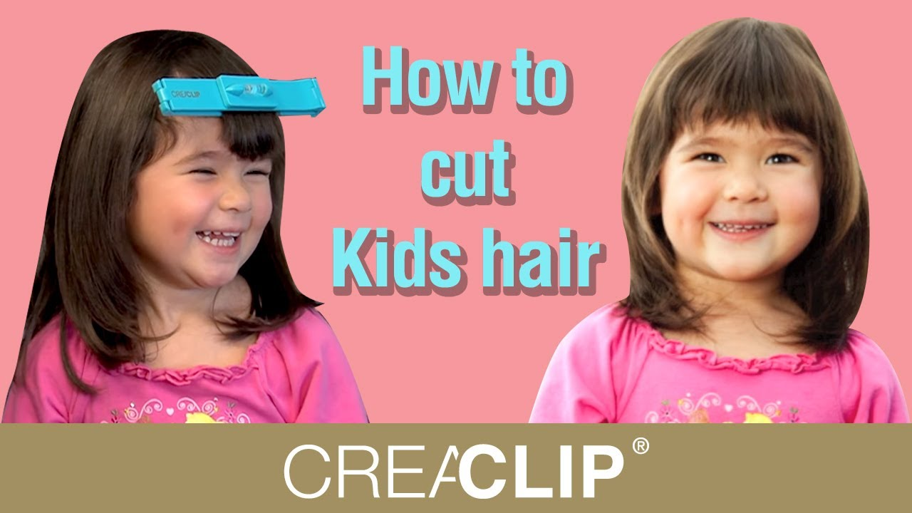 How To Cut Kids Hair Straight Bangs And Layers For