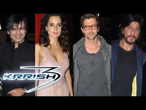 Bollywood Stars @ Krrish 3 Grand Movie Premiere