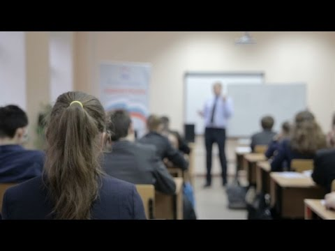 Teacher Teaches In The Classroom | Stock Footage - Videohive