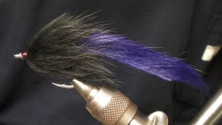 How to tie a Tarpon Bunny ~ Black and Purple Fly