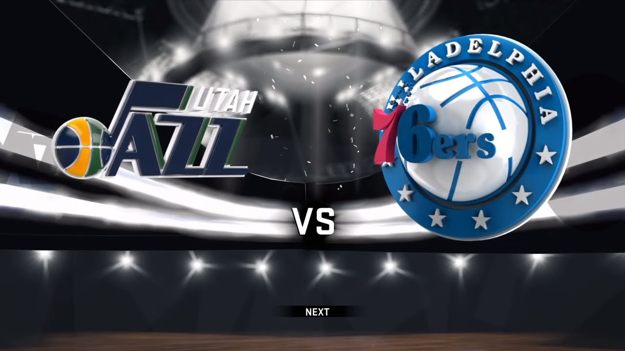 Nba 2k17 Ps4 Utah Jazz Vs Philadelphia 76ers Youtube