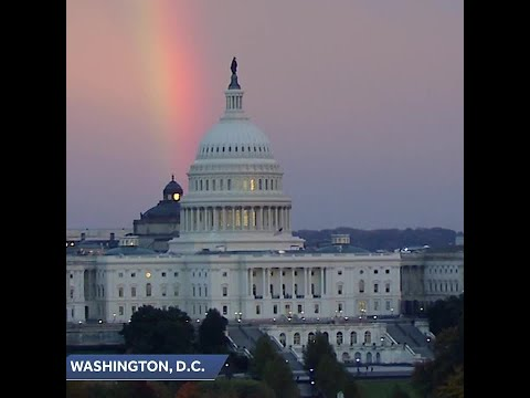 Sandy - So Cool! Rainbow Appears Over Capitol Hill On Election Night!