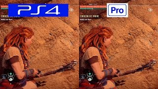 Horizon Zero Dawn | PS4 VS PS4 PRO | GRAPHICS COMPARISON | Comparativa