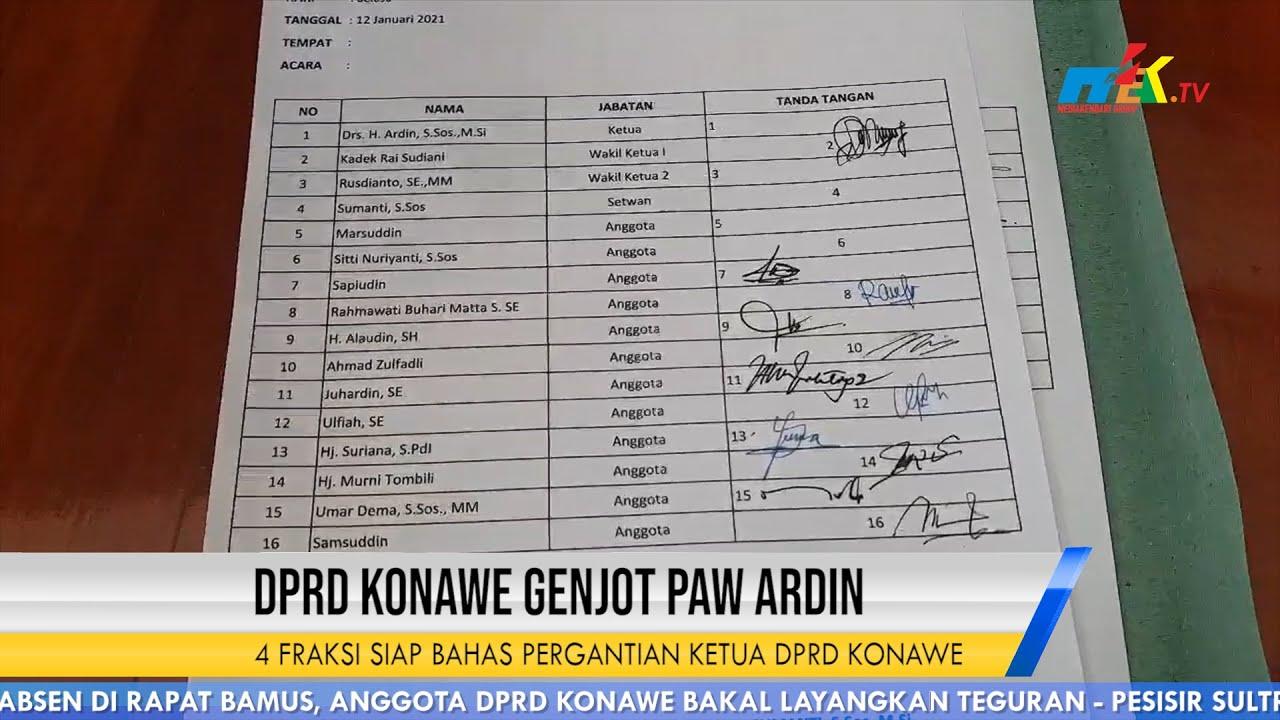 4 Fraksi Siap Bahas Pergantian Ketua DPRD Konawe