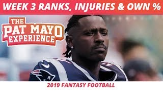 2019 Fantasy Football — Antonio Brown Cut, Week 3 Rankings Update, NFL Injuries, DraftKings Picks