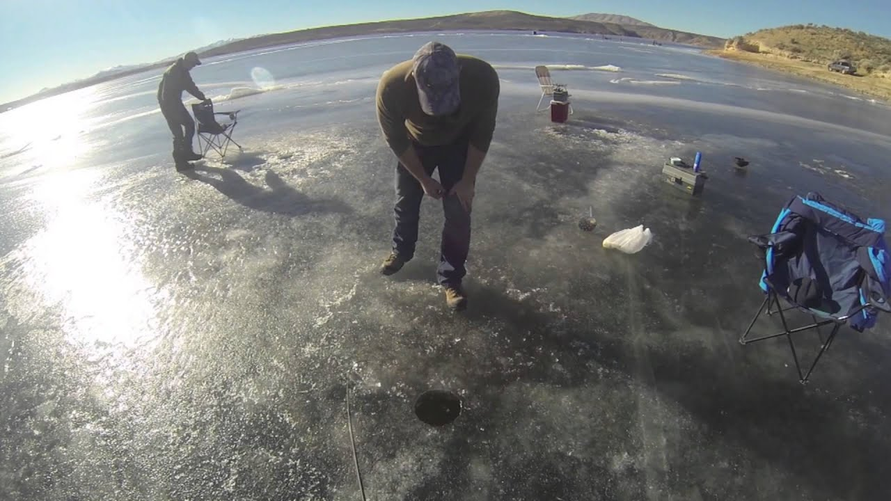 Ice Fishing at South Fork, Elko NV