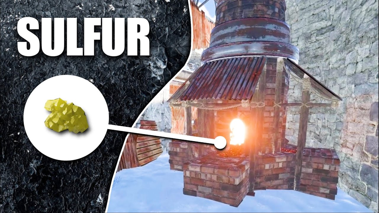 a GROUP WERE COOKING SULFUR in THEIR LARGE FURNACES | Rust Solo Survival (3 of 4)