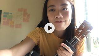 Hearts don& 39 t break around here by Ed Sheeran ukulele cover