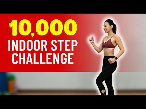 10,000 Indoor STEP🚶‍♀️Challenge (Burn Calories!) | Joanna Soh