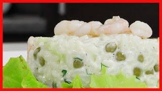 Салат рисовый с креветками под домашним майонезом видео рецепт
