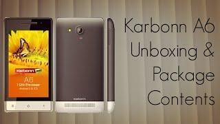 Karbonn A6 Dual Sim Phone Unboxing & Phone Package Contents - PhoneRadar
