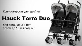 Hauck Torro Duo детская коляска-трость для двойни(Hauck Torro Duo детская коляска-трость для двойни и погодок. Рассчитана до 3-х лет и массы тела каждого ребенка..., 2016-02-23T00:33:16.000Z)