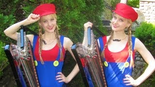 MARIO Medley (Harp Twins electric) Camille and Kennerly