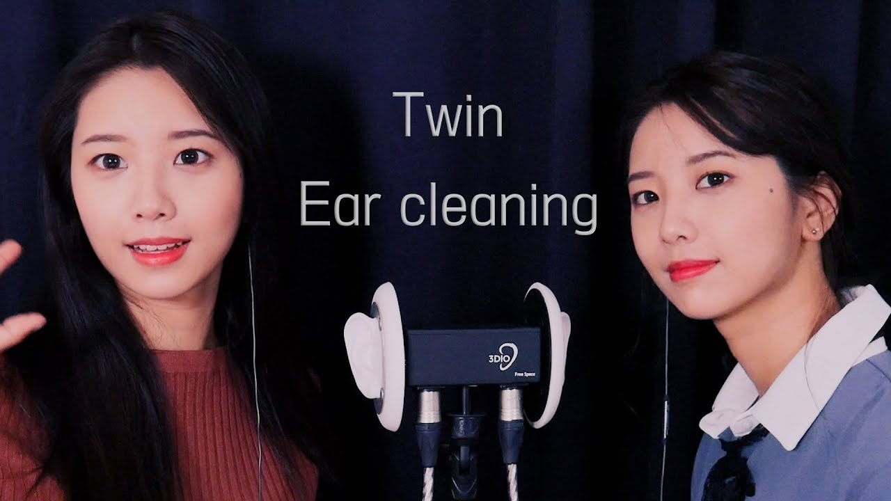 Asmr twin ear cleaning ear oil massage ear brushing ear tapping and tingly sounds - 3 7