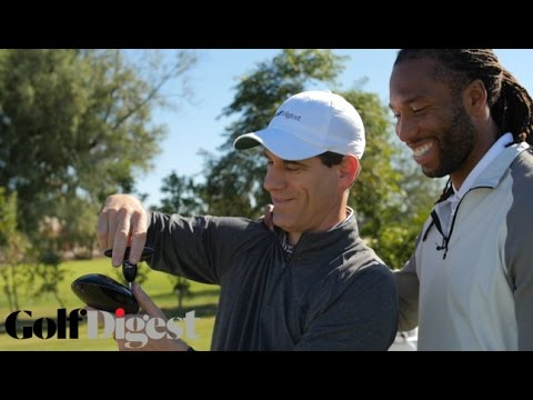 Larry Fitzgerald Tests Out the Latest Golf Equipment at Golf Digest's Hot List Summit