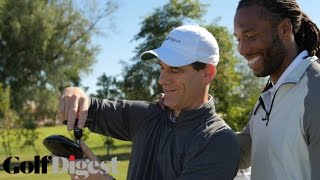 Larry Fitzgerald Tests Out the Latest Golf Equipment at Golf Digest