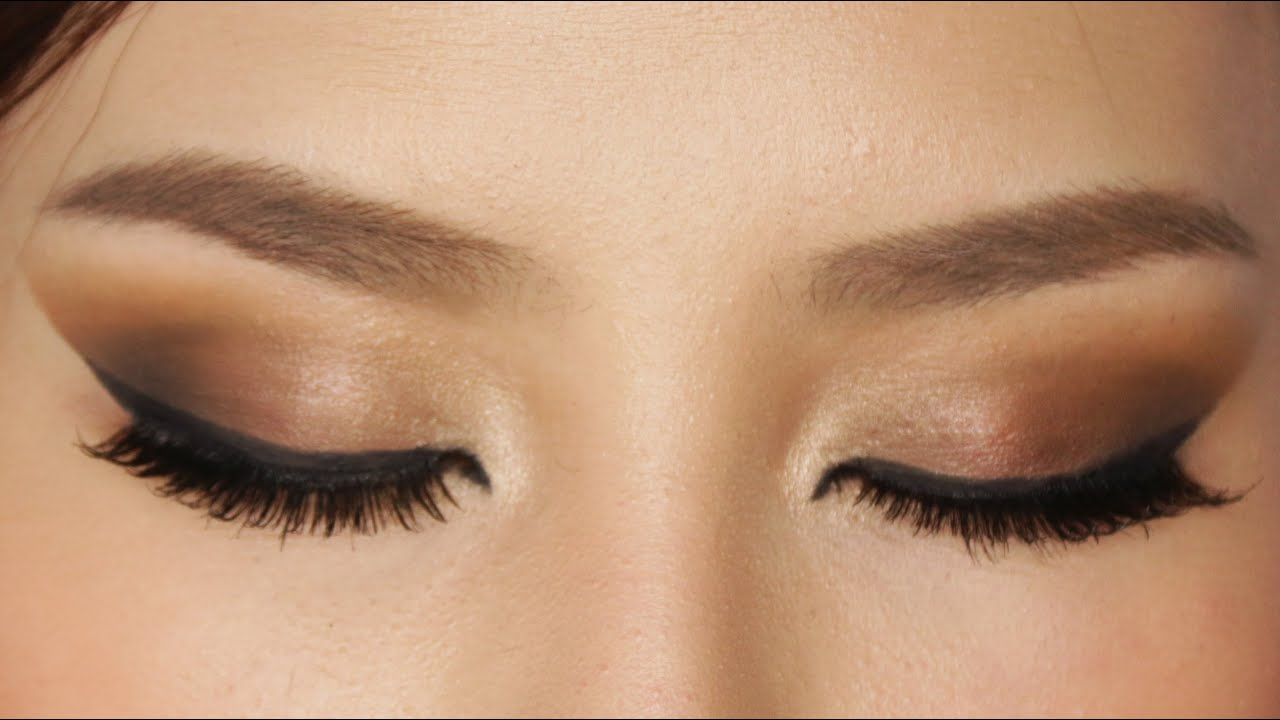 Easy Brown Smokey Eye Makeup Tutorial - YouTube