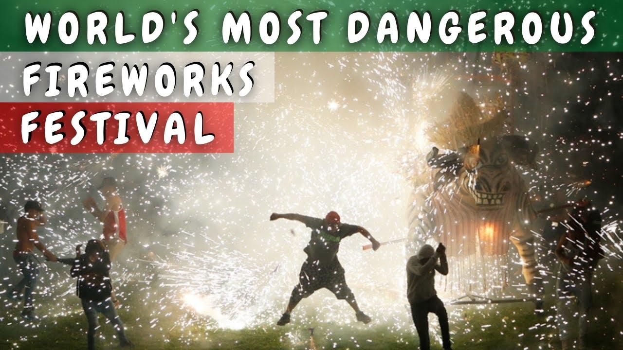 World's Most Dangerous Firework Festival FNP Tultepec Mexico Pyrotechnic Bulls