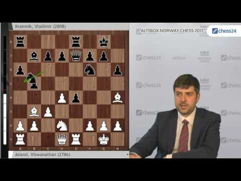 Peter Svidler analyses Anand - Kramnik, Norway Chess 2017 Round 2
