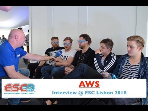 AWS (Hungary) interview @ Eurovision 2018 Lisbon   ESC Radio