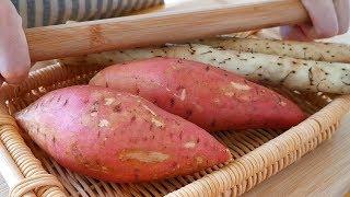 紅薯裡加2根山藥,不油炸不水煮,酥脆又鬆軟,上桌瞬間被搶光! 【小穎美食】