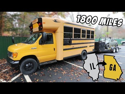 Towing 1800 Miles in a School Bus! - Chicago to Atlanta