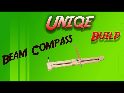 Making A Shop Made Diy Beam Trammel points Compass