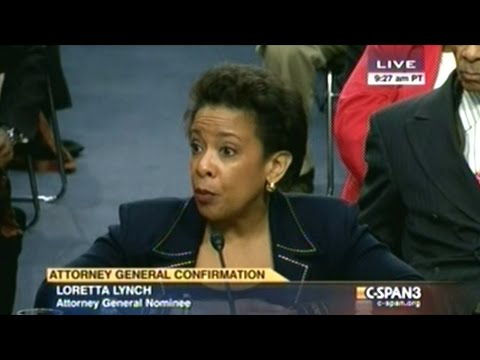 Obama's New Attorney General Nominee Loretta Lynch Confirmation Hearing, Day 1, Part 1