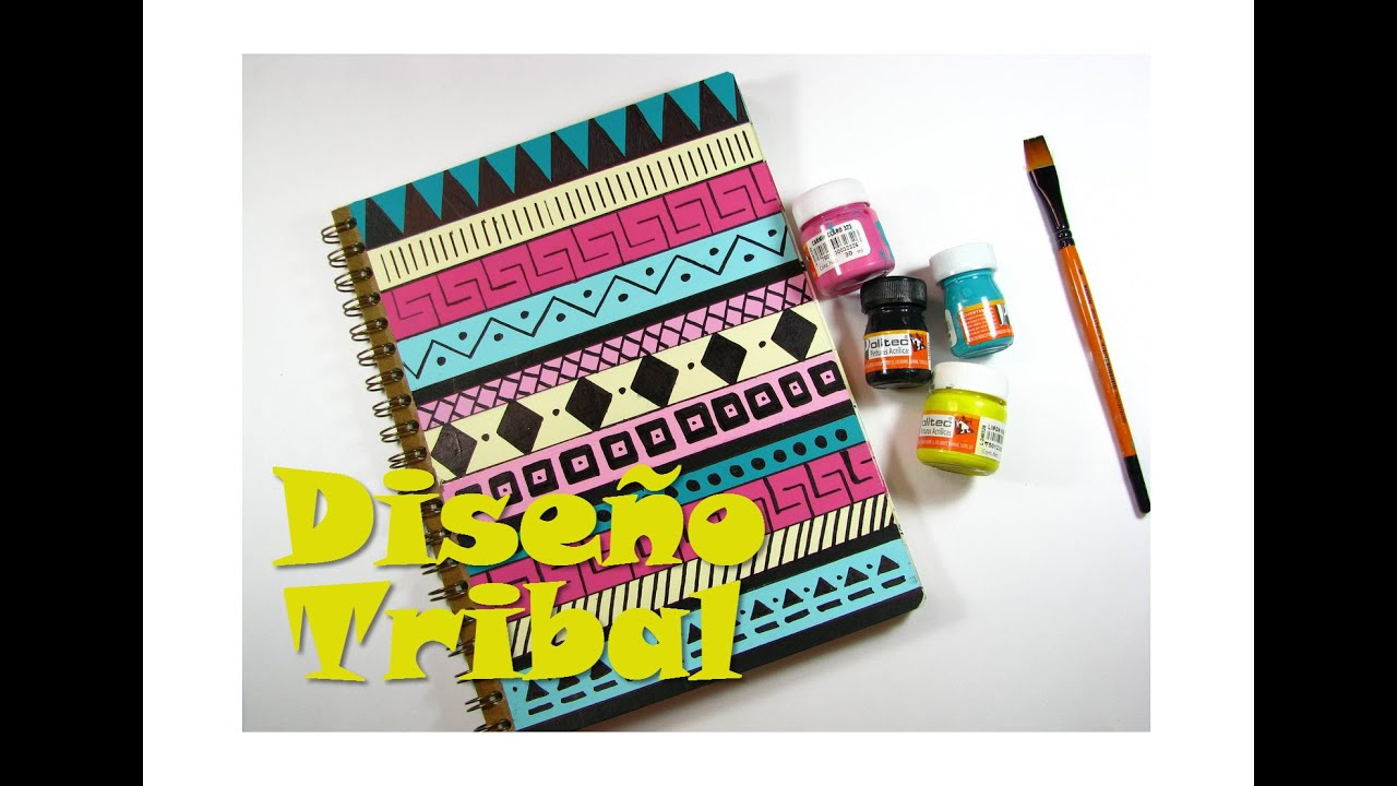 Especial diy decora tu cuaderno con dise o tribal youtube for Decoraciones para hojas