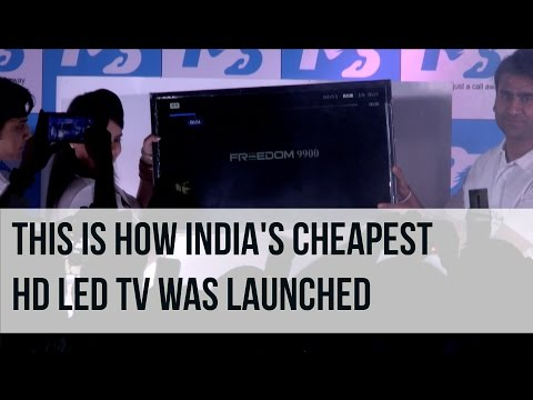 How India's Cheapest HD LED TV was Launched: The Freedom 9900 by Ringing Bells | Digit.in