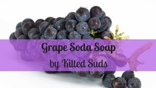 Making Grape Soda Soap | Drop Swirl | Cold Process Soap by Kilted Suds