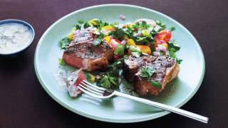 Greek Lamb Chops With Mint Yogurt Sauce Recipe