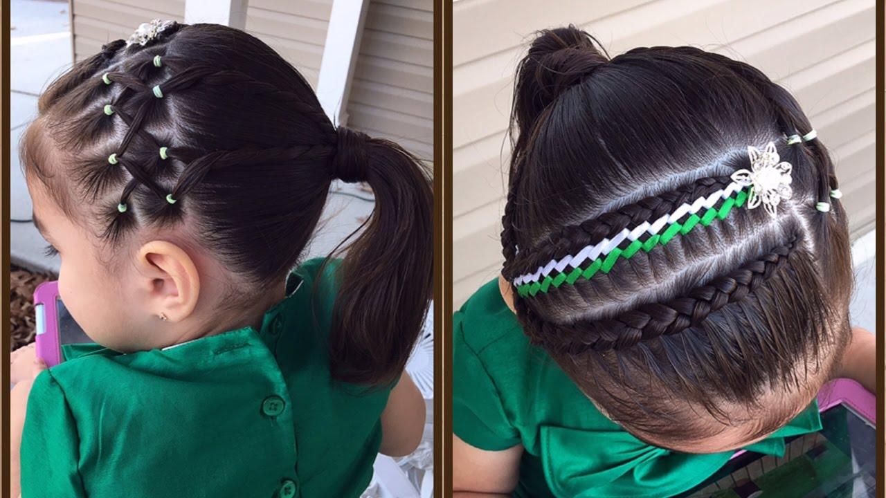 Peinado Para Nina Con Trenza Y Ligas Peinados Faciles Y Bonitos Para