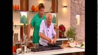 Michel Roux And James Martin Crêpes With Orange Butter Sauce And Pork Sausages With Pineapple Salsa