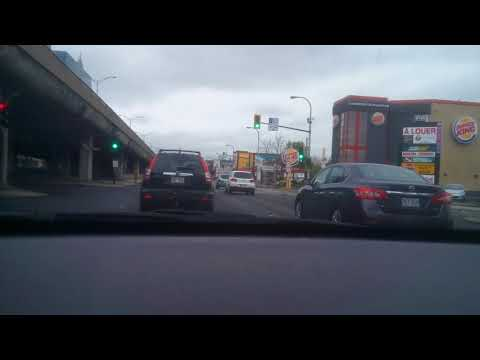 Montreal driving - Villeray to Ville-Marie