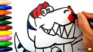 공룡 그리기! Drawing Dinosaur Learn…
