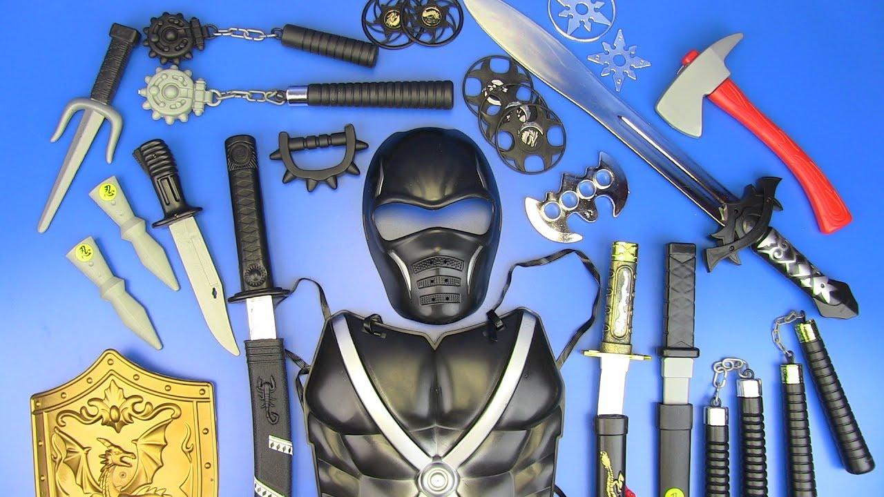 Toy NINJA Weapons Toys for Kids ! Ninja Guns & equipment ...