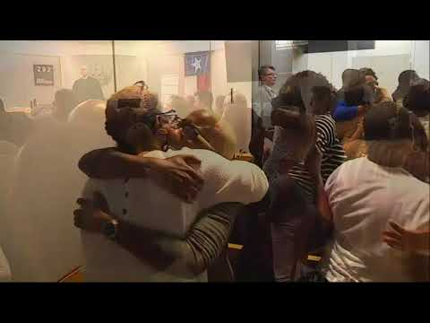 Relatives exchange hugs upon Texas guilty verdict