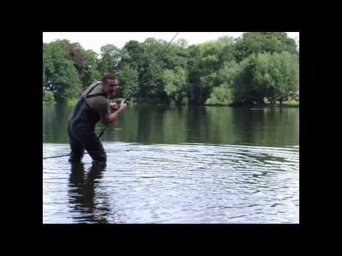 Carp Fishing On Poynton Pool In Cheshire