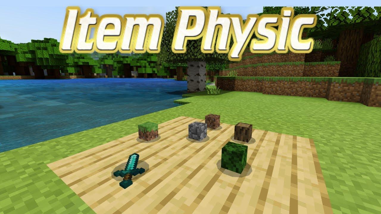Minecraft Bedrock Edition (ItemPhysic Mod/Addon) - YouTube