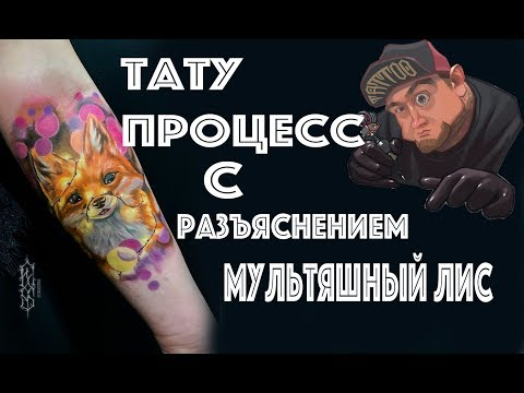 ТАТУ ПРОЦЕСС С РАЗЪЯСНЕНИЕМ (делаю мультяшного лиса)Evgen Serdyuk