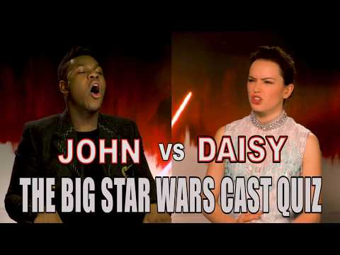 'I don't care about these people': John Boyega and Daisy Ridley go head-to-head in our cast quiz