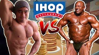 Big Lenny VS Nate | IHOP's Unlimited Pancake Challenge