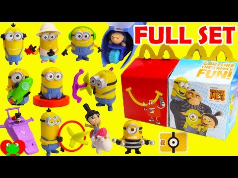 Thumbnail: 2017 Despicable Me 3 Minions McDonald's Happy Meal Toys Full Set