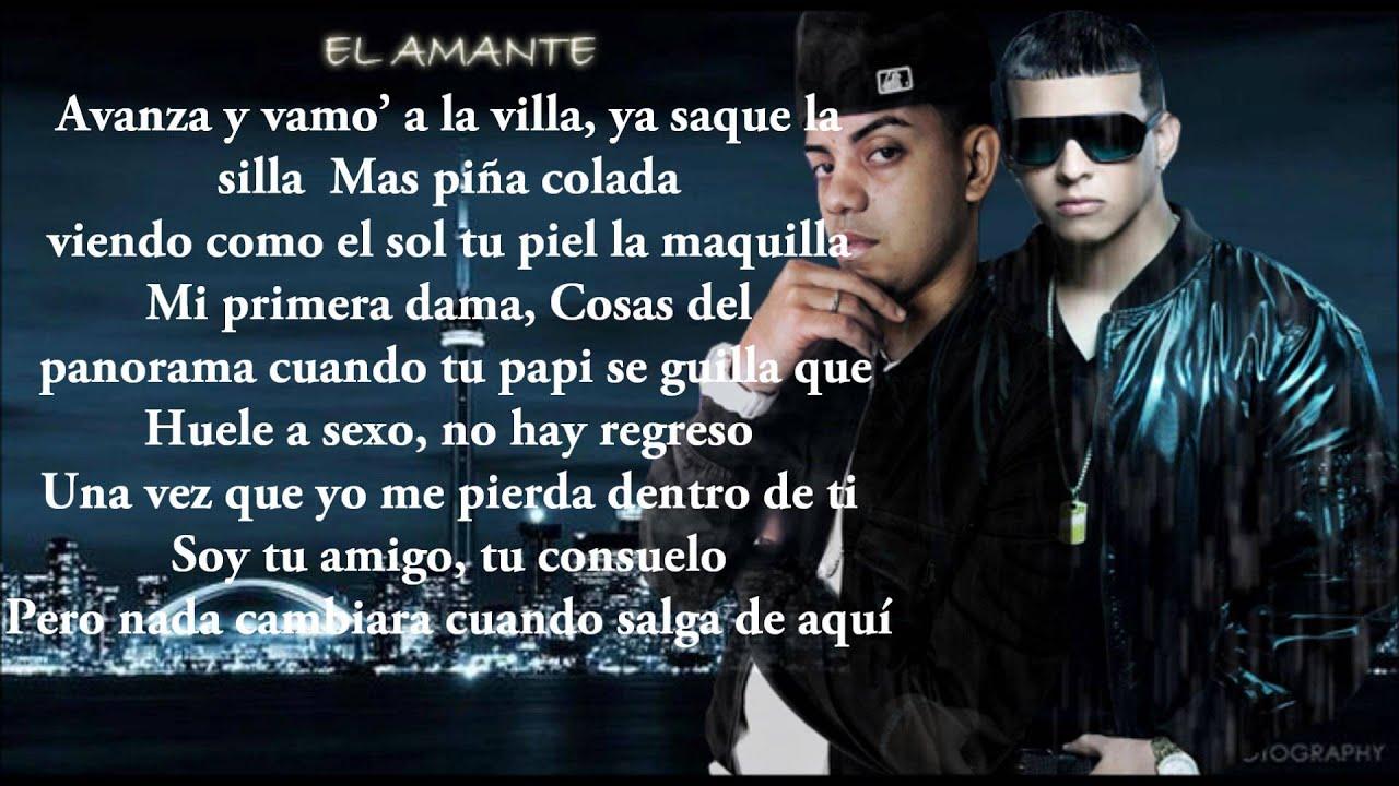 El Amante Daddy Yankee Ft J Alvares Con Letra Youtube